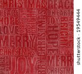 christmas words on red background - stock photo