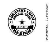 retro vintage and round logo... | Shutterstock .eps vector #1954960504