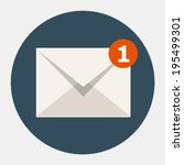 vector email icon | Shutterstock .eps vector #195499301