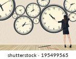 asian business woman repair the ... | Shutterstock . vector #195499565