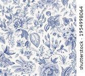 bloom. vintage floral seamless... | Shutterstock .eps vector #1954998064