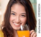 asian young women cute woman... | Shutterstock . vector #195500054