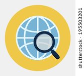 vector global search icon | Shutterstock .eps vector #195503201