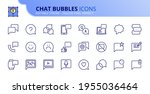outline icons about chat... | Shutterstock .eps vector #1955036464