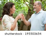 close up side portrait of a... | Shutterstock . vector #195503654