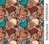 hand drawn coffee seamless... | Shutterstock .eps vector #1955045614