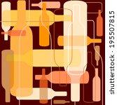 wine bottle background   Shutterstock .eps vector #195507815