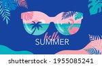 summer time fun concept design. ... | Shutterstock .eps vector #1955085241