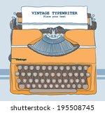 vintage typewriter vector...