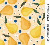 summer seamless pattern with... | Shutterstock .eps vector #1955095171