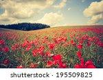 Vintage Landscape Photo Of Red...