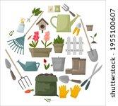garden tool vector gardening...   Shutterstock .eps vector #1955100607