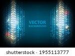 abstract cyber hi tech... | Shutterstock .eps vector #1955113777