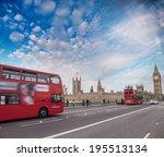 double decker bus crossing... | Shutterstock . vector #195513134