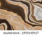 brown marble with gold  vector... | Shutterstock .eps vector #1955145517