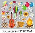 festa junina stickers set....   Shutterstock .eps vector #1955155867