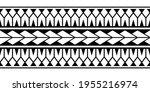 maori polynesian tattoo... | Shutterstock .eps vector #1955216974