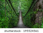landscape view of long steel... | Shutterstock . vector #195524561