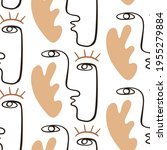 abstract faces seamless pattern ... | Shutterstock .eps vector #1955279884