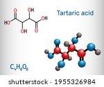 tartaric acid  dextrotartaric ... | Shutterstock .eps vector #1955326984