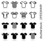 football or soccer jerseys...   Shutterstock .eps vector #195534449