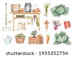 Watercolor Garden Harvest...