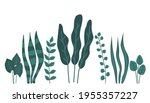 green leaves set isolated on...   Shutterstock .eps vector #1955357227