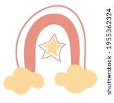 scandinavian pink rainbow with...   Shutterstock .eps vector #1955362324
