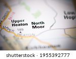 north moor on a geographical... | Shutterstock . vector #1955392777