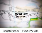 warley town on a geographical... | Shutterstock . vector #1955392981