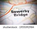 sowerby bridge on a... | Shutterstock . vector #1955392984