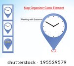 map organizer clock element  ...