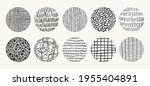 set of circle hand drawn... | Shutterstock .eps vector #1955404891