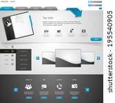 professional wesite template | Shutterstock .eps vector #195540905