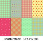 set of seamless jumbo and small ... | Shutterstock .eps vector #195549701
