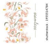 pink tulips  seamless border of ...   Shutterstock .eps vector #1955514784