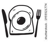 breakfast graphics bread and... | Shutterstock .eps vector #1955521774