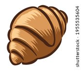 hand drawn croissant icon ... | Shutterstock .eps vector #1955535604