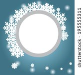 abstract design with snowflakes ... | Shutterstock .eps vector #195555311