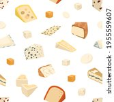 seamless pattern with different ... | Shutterstock .eps vector #1955559607