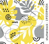 seamless pattern with abstract...   Shutterstock .eps vector #1955599054
