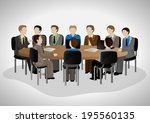 business people having meeting  ... | Shutterstock .eps vector #195560135
