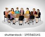 business people having meeting  ... | Shutterstock .eps vector #195560141