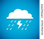 white cloud and thunder storm... | Shutterstock .eps vector #195562955