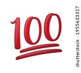 hundred points icon... | Shutterstock .eps vector #1955633317