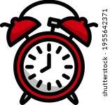 icon of alarm clock. editable...