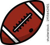 icon of american football ball. ...