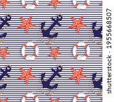 Seamless Pattern With Marine...