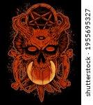 Orange Satanic Skull Manual...