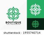 flower line art boutique logo... | Shutterstock .eps vector #1955740714